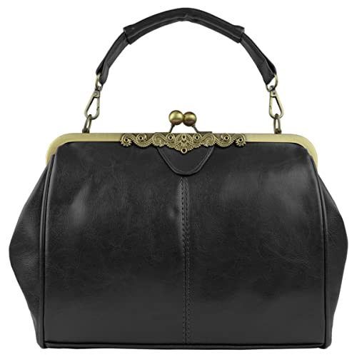 aa839461ee2b Micom New Small Retro Vintage Kiss Lock Imitation Leather Purse Handbag  Totes Bag for Women