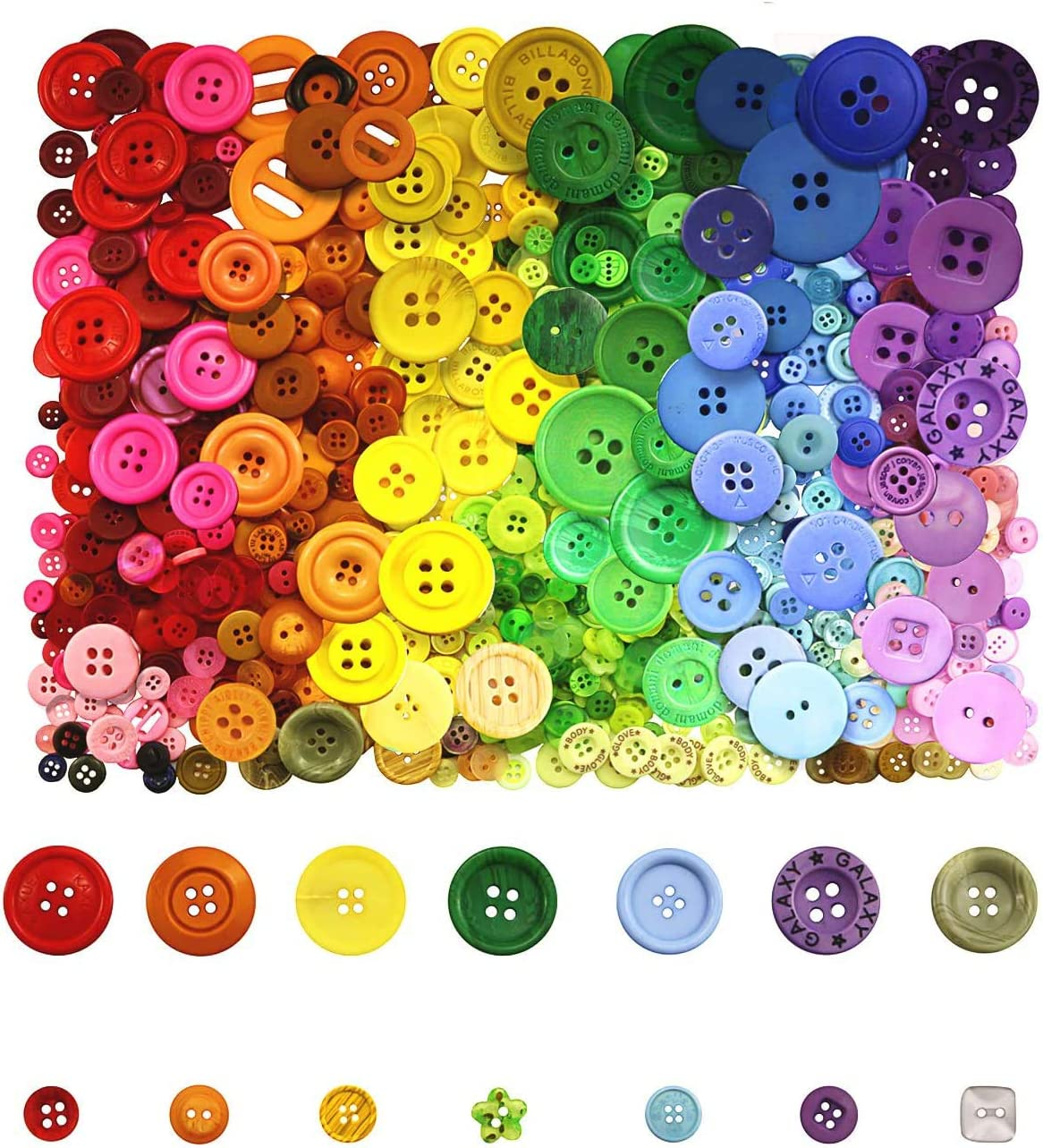 34 or 20 mm 58 or 16 mm Bright Coloured Star Buttons 6  Star Buttons Sewing or Craft Supplies