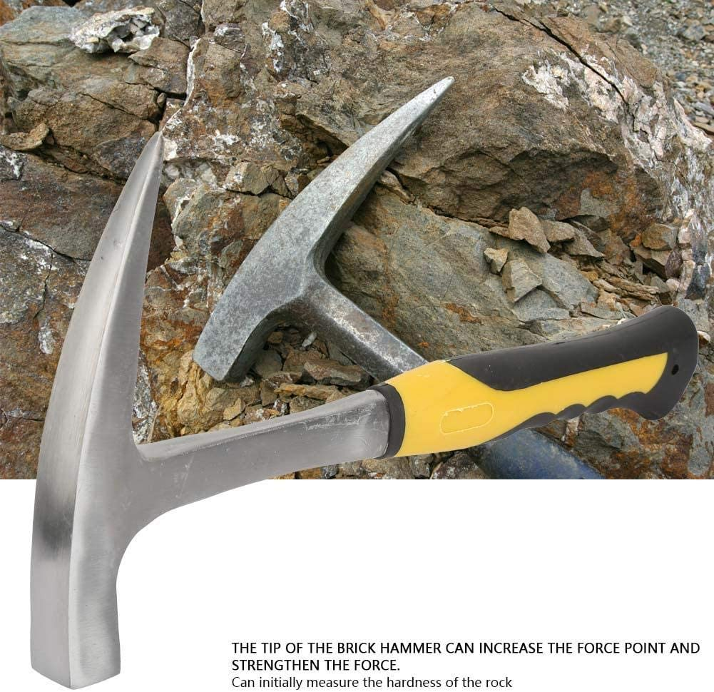 marteau /à t/ête plate /à double t/ête Marteau de bec de canard de Commission g/éologique Petit acier /à haute teneur en carbone poign/ée en caoutchouc