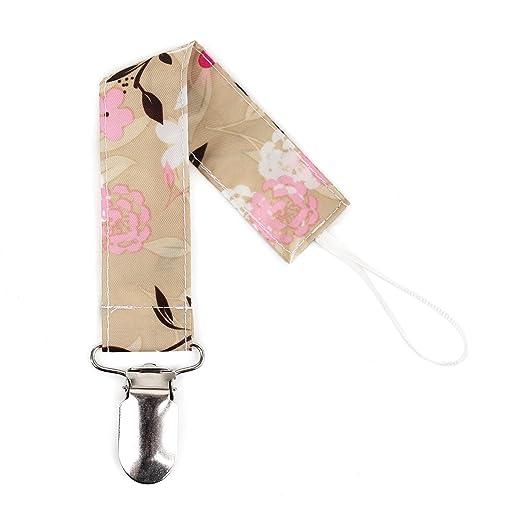 Bumkins Pacifier Clip, Flutter Floral