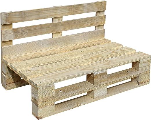 Sofa PALETS Lijado Y Cepillado - Medida 120cm X 60cm -Interior/Exterior Nuevo-Natural Sillon PALETS: Amazon.es: Jardín