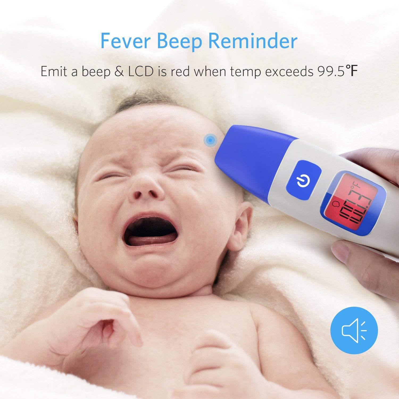 HOMIEE Termómetro Infrarrojo Digital Médico de Frente y Oído para Bebés, Niños y Adultos, Certifica FDA CE Alarma de Fiebre y Lectura instantánea ...