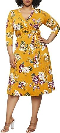 Plus Size Cut Out Shoulder Floral Print Dress Size 16-26