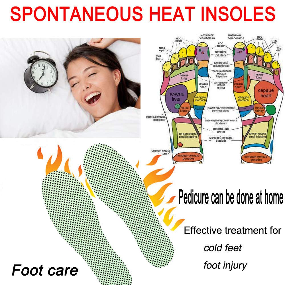 KFSO Spontaneous Heat Magnetic Massage Shoe Insoles Pad Therapy Acupressure Foot Care Cushion