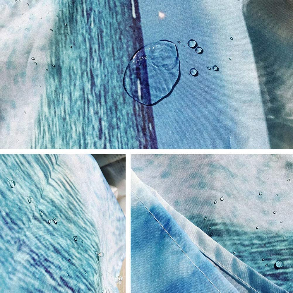 PinShang Shower Curtain Sets 4Pcs//Set Romantic Pattern Bathroom Mat Rug Cover+Shower Curtain Set for Lovers Four-Piece Set Y180917-C008