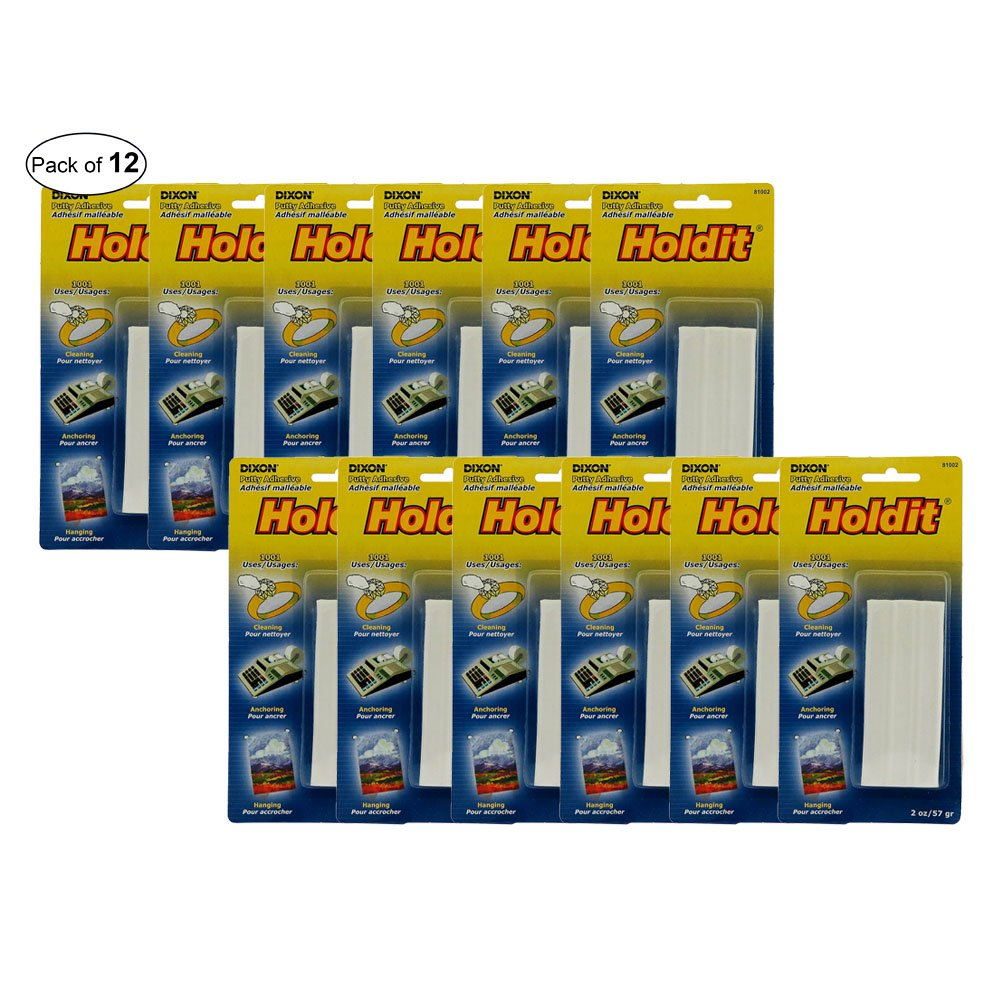 Holdit Adhesive Putty-Non-Toxic,Moisture Resistant (Pack of 12)