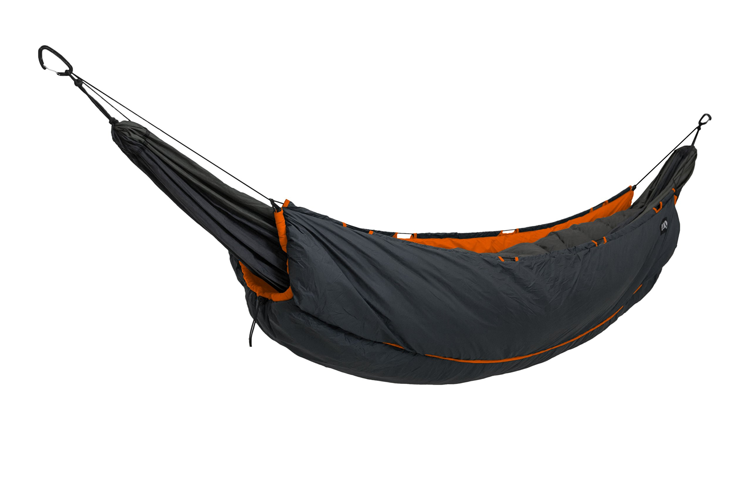 ENO Eagles Nest Outfitters - Vulcan Underquilt, Ultralight Camping Quilt, Orange/Charcoal
