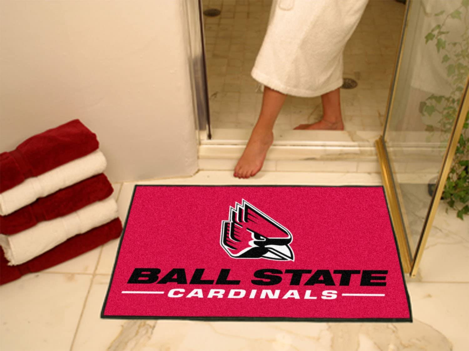 FANMATS NCAA Ball State University Cardinals Nylon Face Ultimat Rug