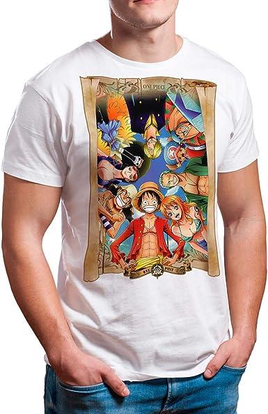 Camiseta Serie Manga y Anime Hombre - Unisex One Piece: Amazon.es: Ropa y accesorios