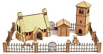 WWG Medieval Town - Iglesia, campanario y Cementerio con ...