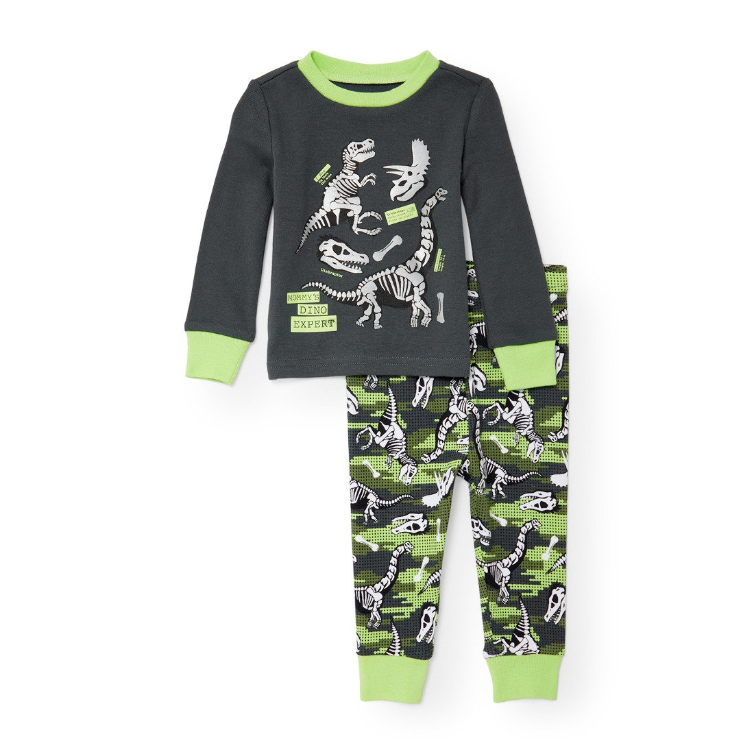 The Children's Place Baby Mom Dinosaur 2 Piece Pajamas 2090877