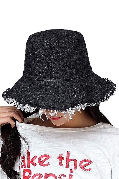 Zonsaoja Women s Bucket Hat Denim Fisherman Packable Abrasion Unisex Travel