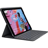 Logitech Slim Folio Funda con teclado inalámbrico integrado para iPad 7a generación, Model: A2197, A2200, A2198, A2270…
