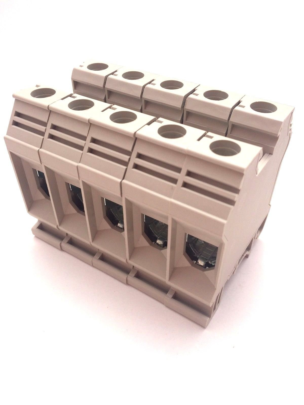 Dinkle DK35N DIN Rail Terminal Block Screw Type UL 600V 150A 1/0-12AWG, Pack of 50