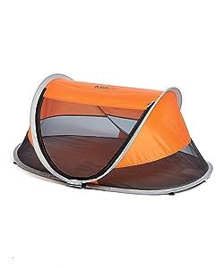 KidCo P3041ZL Peapod Portable Indoor Outdoor Travel Bed Tangerine