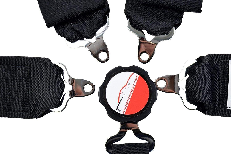 RACERDIRECT All WRAP Race Harness SFI 16.1 5 Point HANS U ROLL BAR Mount 3 CAM Lock Pull UP