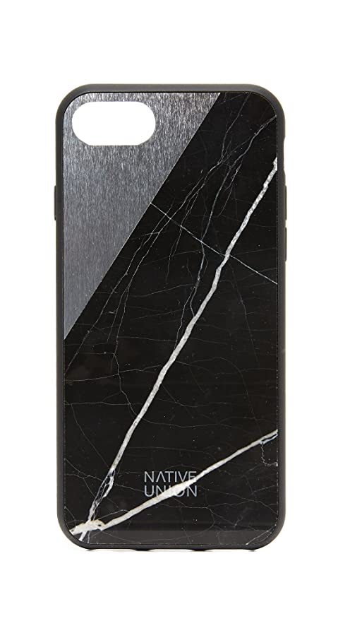 info for 26c1d d9b0b Native Union CLIC Marble Case - Handcrafted Real Marble Drop-Proof  Protective Cover with Metal Slash for iPhone 7, iPhone 8 (Black)