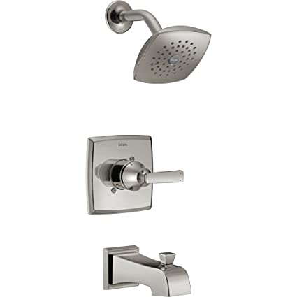 Superieur Delta Ashlyn Modern Stainless Steel Finish 14 Series Watersense Single  Handle Tub And Shower Combination Faucet