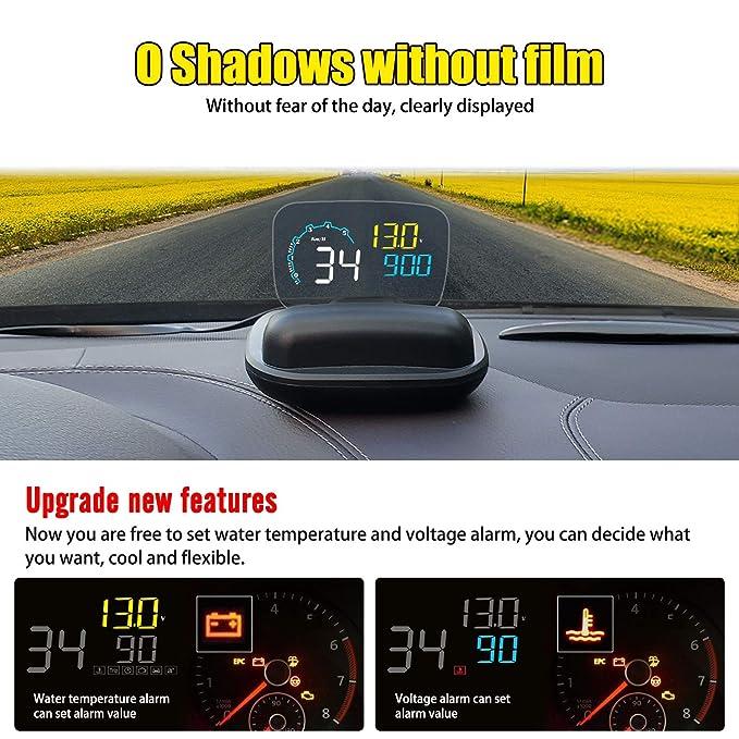 Coche HUD Head-up Display Parabrisas Proyector OBD2 4 pulgadas ...