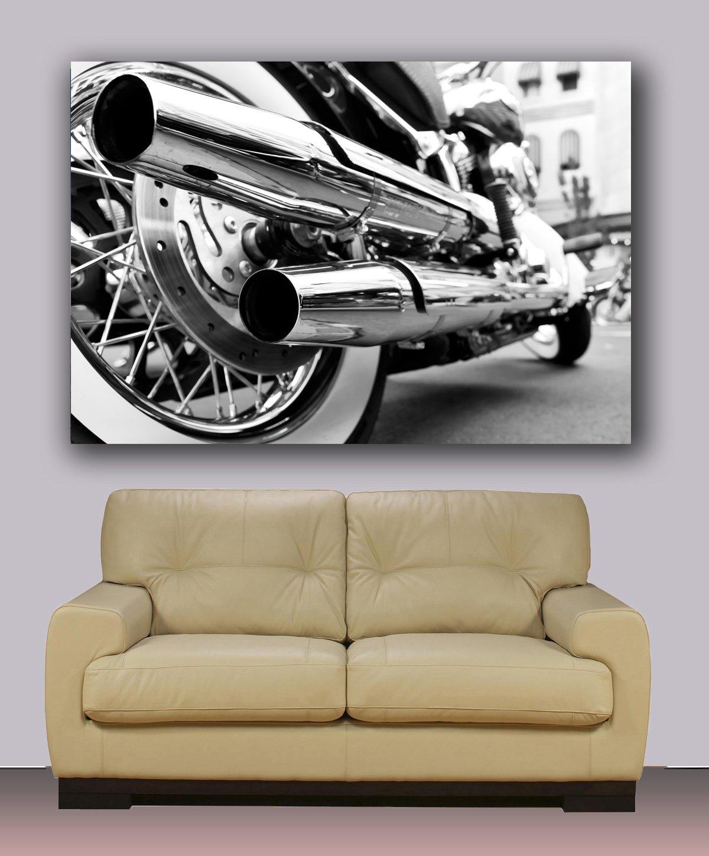 Amazon.com: Harley Davidson Canvas Print, Ready To Hang Wall Art Decoration  40 Part 93