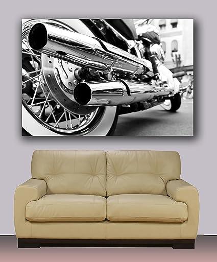 Harley Davidson Canvas Print, Ready To Hang Wall Art Decoration 40u0026quot ...