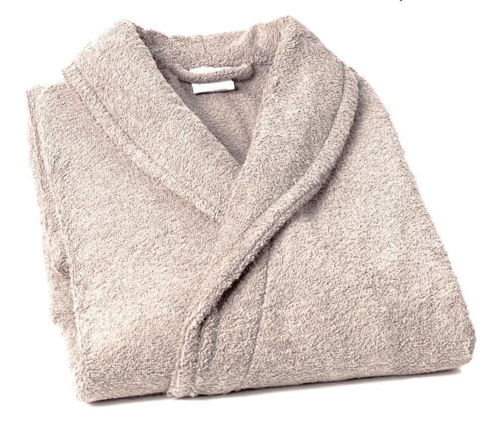 Home Basic - Albornoz con cuello tipo smoking, talla XL, color nácar: Amazon.es: Hogar