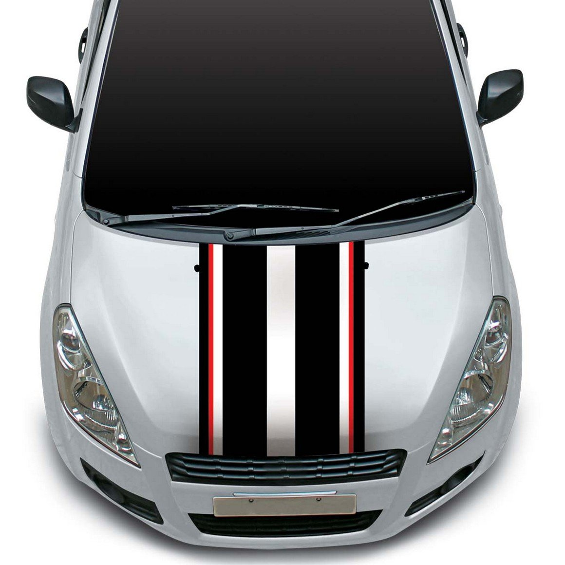 Autographix racing stripes car bonnet wrap graphics small amazon in car motorbike