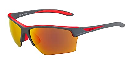 e3d09e35130 Amazon.com  Bolle Flash Matte Grey Red Polarized Fire Oleo AF