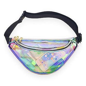 2ebdd2eeb710 PVC étanche pour Femme Unisexe Homme, Sac Banane, Laser Réflet  Holographique PU Fanny Lot