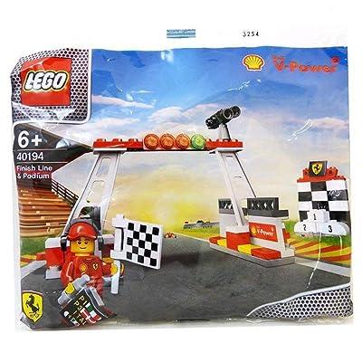 40194 Lego Shell V-Power Ferrari Exclusive Sealed by LEGO Línea de meta y Podium bolsa de polietileno: Juguetes y juegos