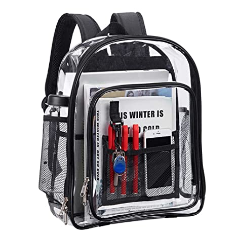 Amazon.com  Magicbags Heavy Duty Clear Backpack 43ae56c9b1057