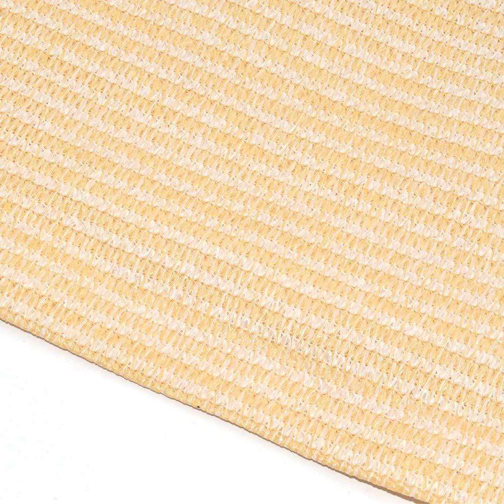 YMG HDPE Tendalino da Sole Mesh Ombra per Esterni Vele Rettangolo Anti-UV Applicare sulla Copertura del Giardino di Sandy Beach Patio,1X1.5m