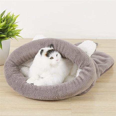 Cama, caseta para dormir gatos y perros de suave de algodón lavable
