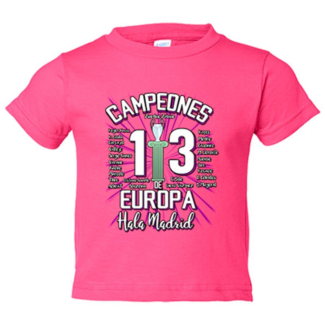 Camiseta niño Real Madrid Campeones de Europa 13 decimotercera Hala Madrid  - Amarillo ea2fd73a276c9