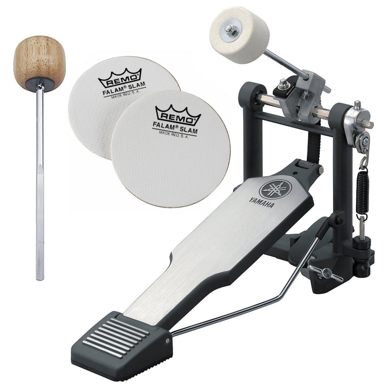 Yamaha FP8500B Lightweight Belt-Drive Single Bass Drum Pedal w/ Bonus Wood Beater and Impact Patches FP8500B BUNDLE