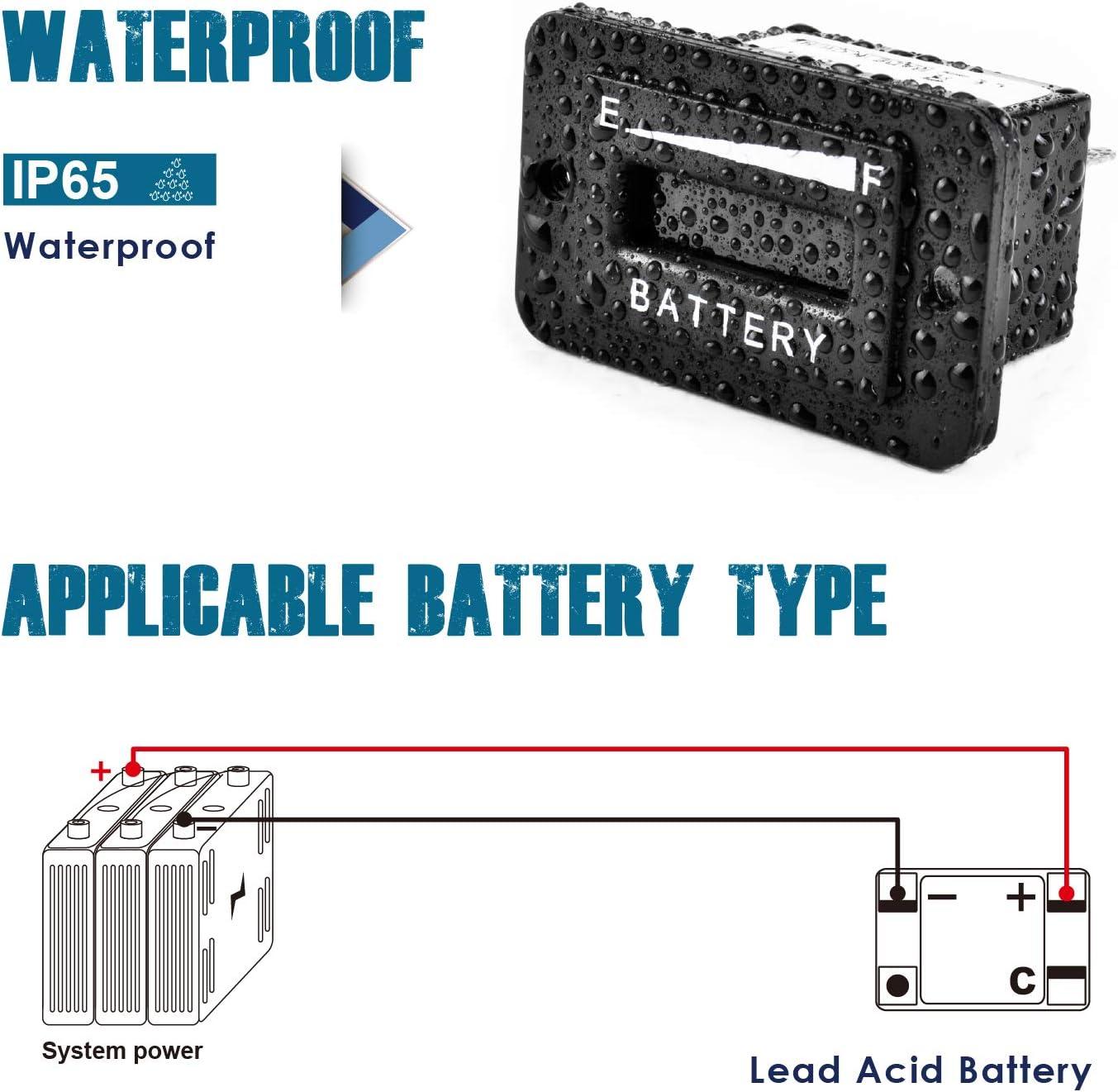 anzeige indikator für dc golfwagen boden auf ausrüstung und andere batteriebetriebene geräte motor wie gabelstapler Runleader RL-BI003 12-24v batterie Ltd