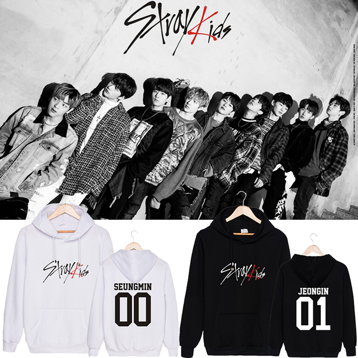 CHAIRAY Kpop Stray Kids Hoodie Sweatshirt ChangBin HyunJin Woojin Sweater by CHAIRAY (Image #2)