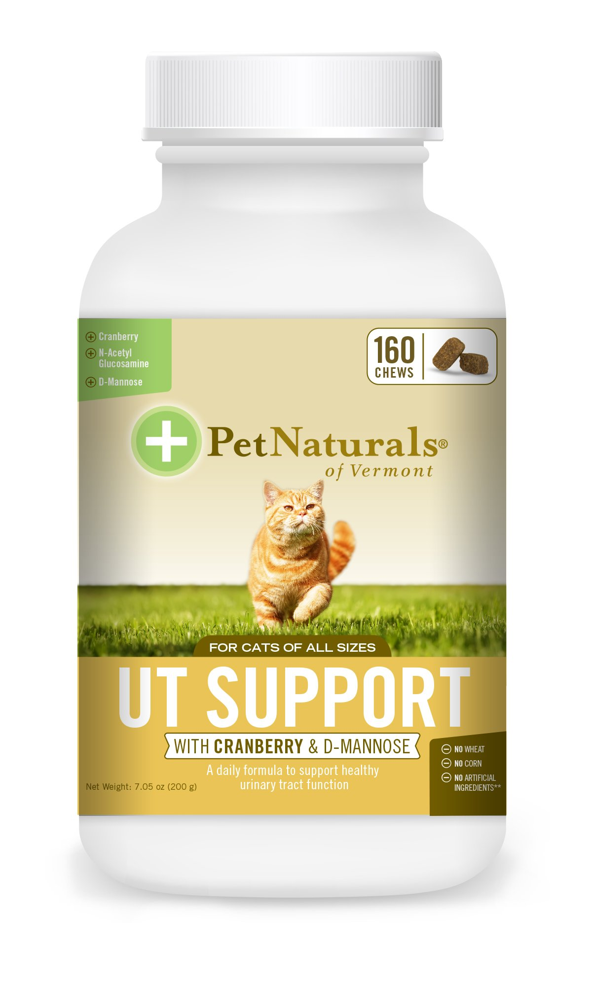Pet Naturals of Vermont - UT Support for Cats, Urinary Tract Supplement, 160 Bite Sized Soft Chews