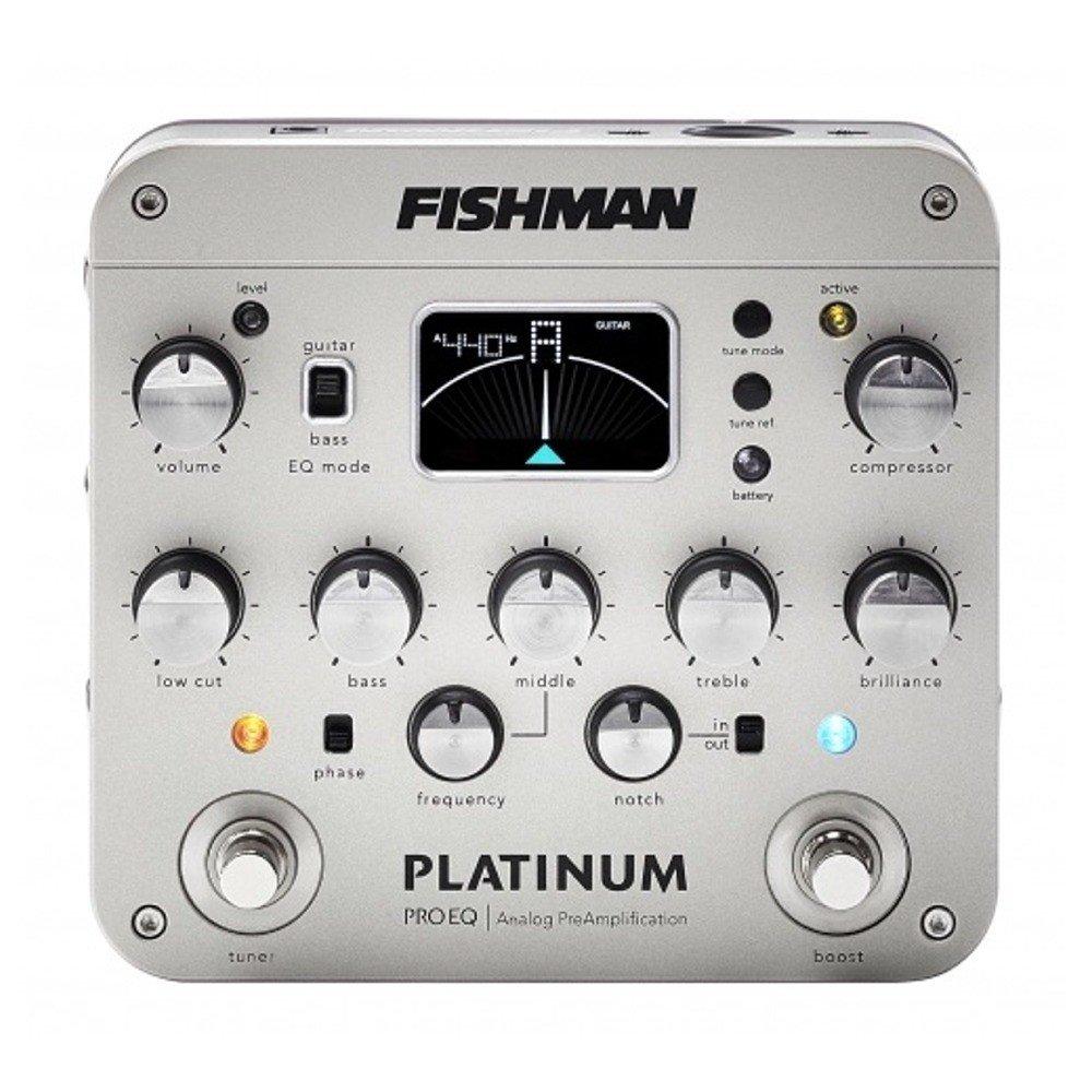 Fishman PRO-PLT-201 Platinum Pro EQ/DI Analog Preamp w/Bonus Dunlop DTC1 Tuner 605609152466 by Fishman