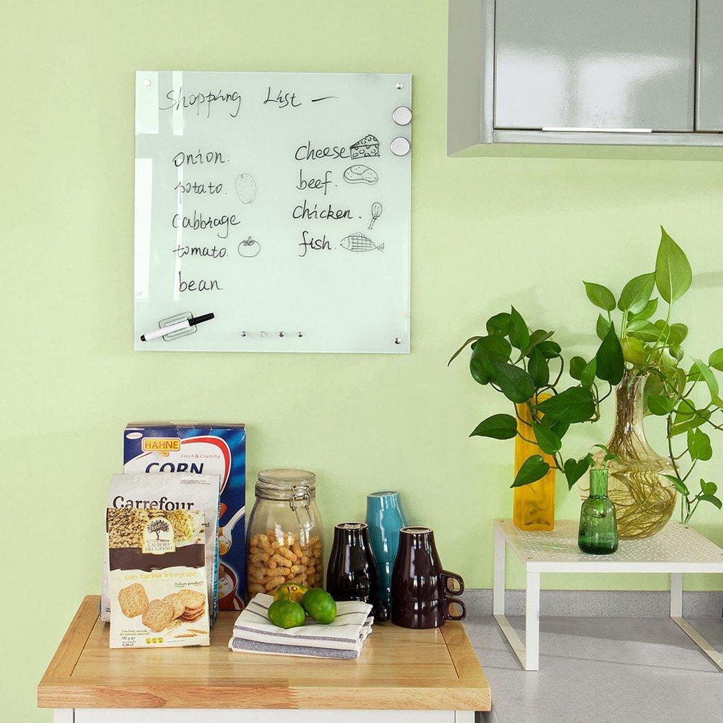 teamyy 45 x 45 cm Whiteboard Imán Pizarra Pizarra Pizarra Magnética Tarjeta tablón: Amazon.es: Oficina y papelería