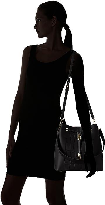 Cavalli C63PWCMC0092 - Bolso Mochila de Piel Mujer, Color Negro, Talla 28x28x18 cm (B x H x T): Amazon.es: Zapatos y complementos