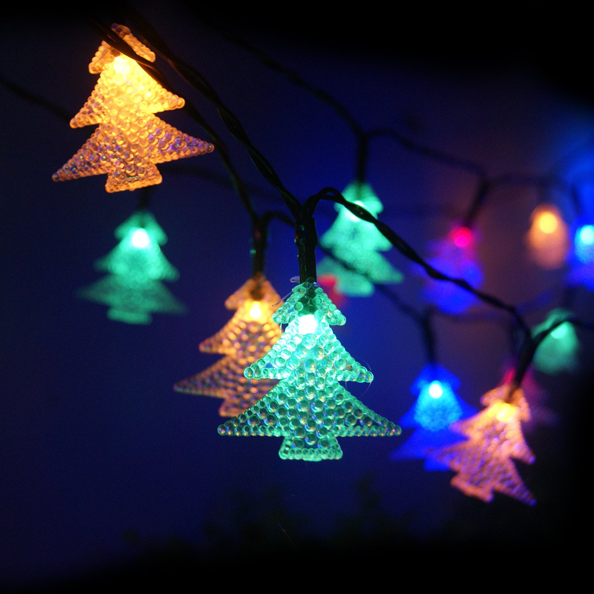 Amazoncom Outdoor Solar String Lights with 60 LEDs ECHTPower
