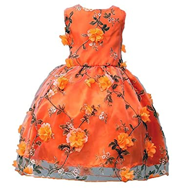 ADHS Girls Dress Kids Flower Party Wedding Holiday Princess Dresses 2-10 Years