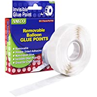 Aneco 500 Pieces Clear Balloon Glue Points Removable Adhesive Dots Double Sided Glue Points Stickers Non Trace Adhesive…