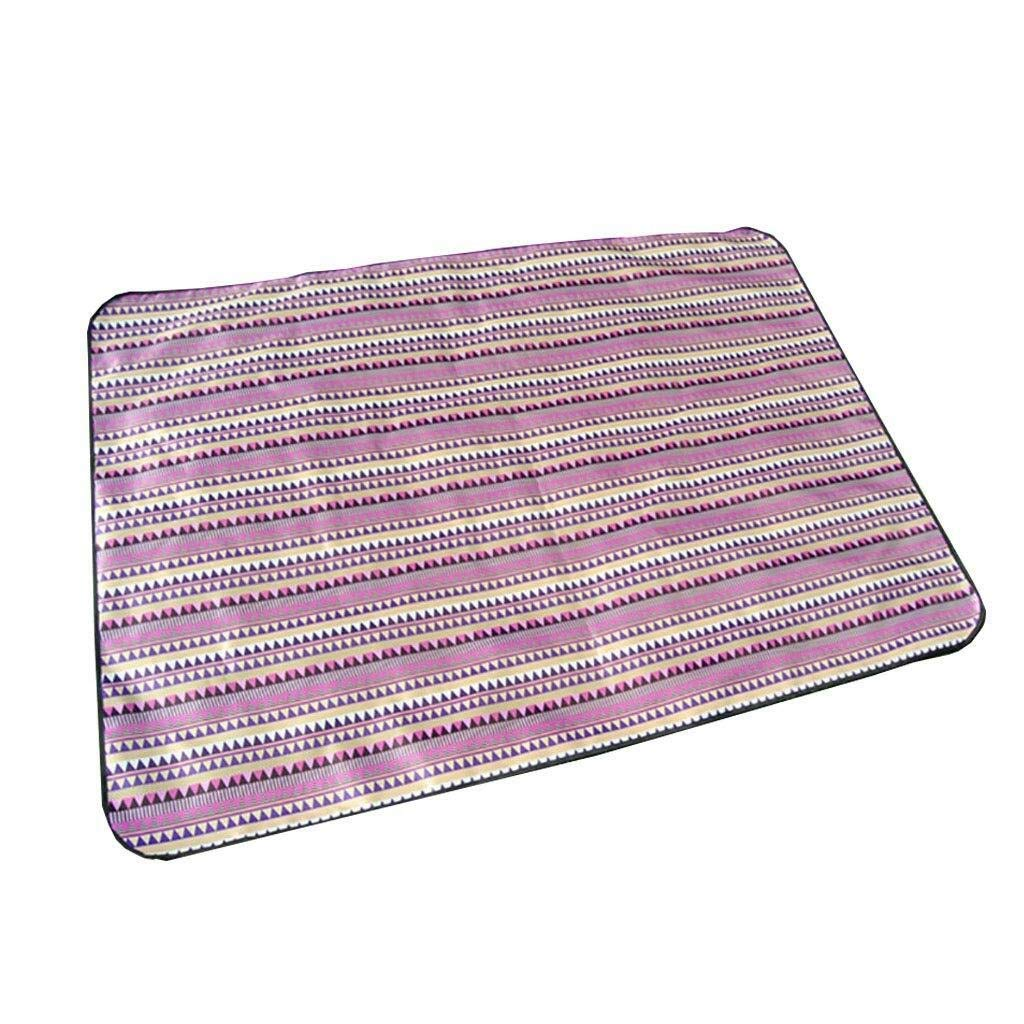 ZKKWLL Picnic Blanket Outdoor Picnic Blanket Multifunctional Beach Blanket Camping Hiking Collapsible Oxford Cloth Picnic mat mat Picnic mat (Color : D) by ZKKWLL