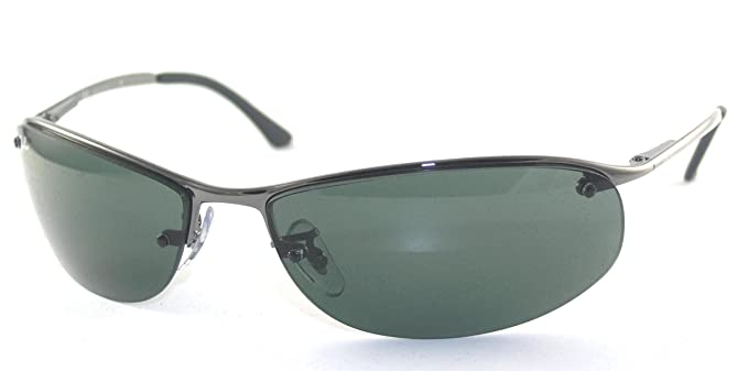 b711cf7b35 Ray Ban Rb 3179 (Top Bar Oval) 004 71 Gunmetal Sunglasses  Amazon.co.uk   Clothing