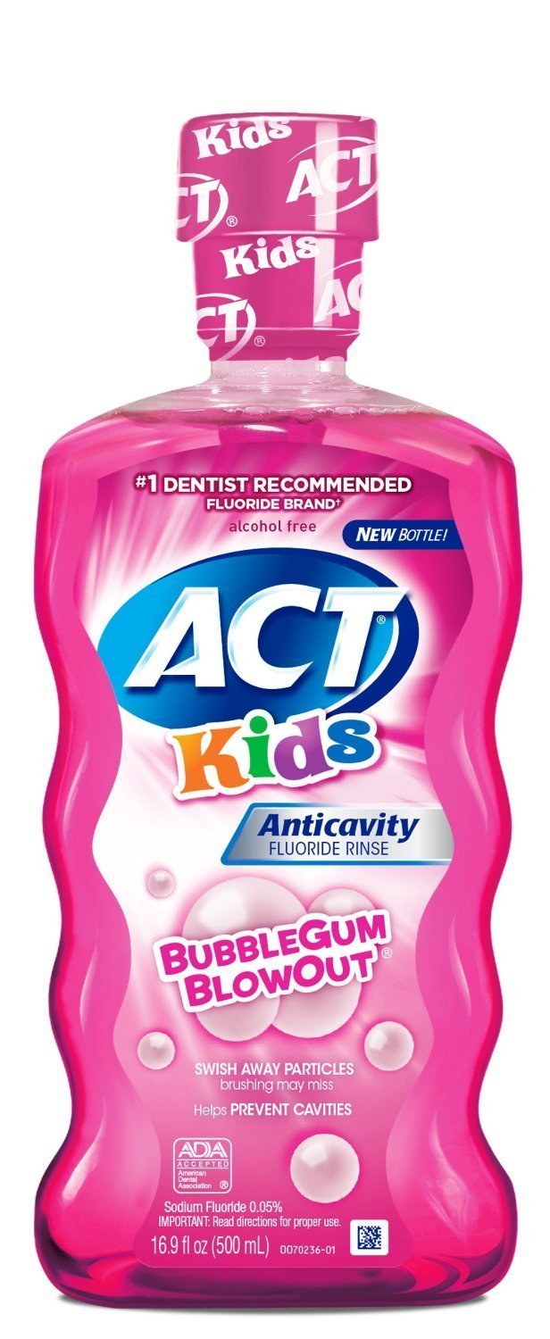 ACT Kids Anticavity Fluoride Mouthwash, Bubble Gum Blow Out 16.9 oz. (Pack of 6) by ACT CHATTEM INC