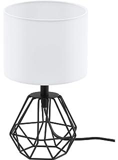 MiniSun - Moderna Lámpara de Mesa– Innovadora Base de Estilo Jaula en Cobre - Pantalla Negra - Iluminación Interior: Amazon.es: Iluminación