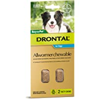 Drontal Allwormer Chews for Dogs 3-10kg, 2 Pack