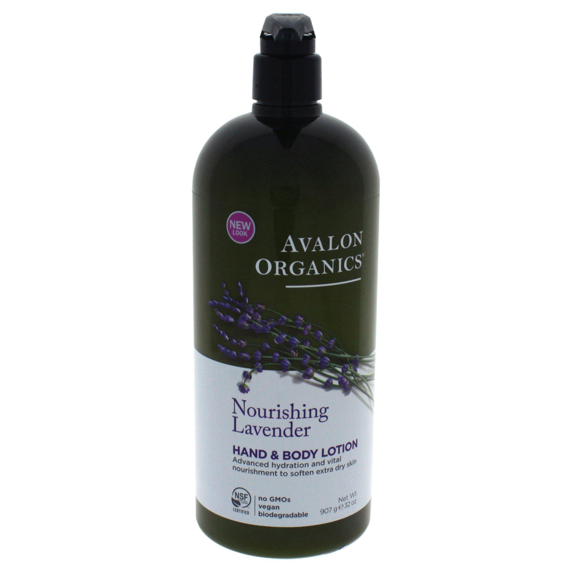 Avalon Organics Hand & Body Lotion, Nourishing Lavender, 32 Ounce